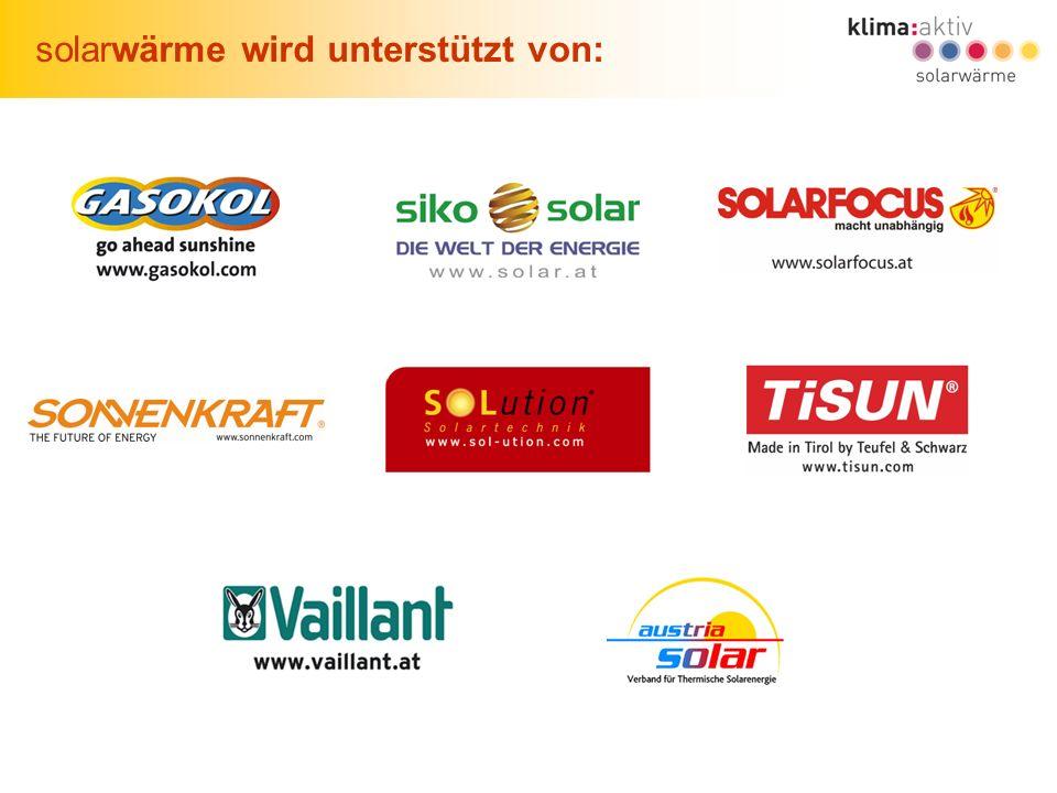 solarwärme wird unterstützt von: