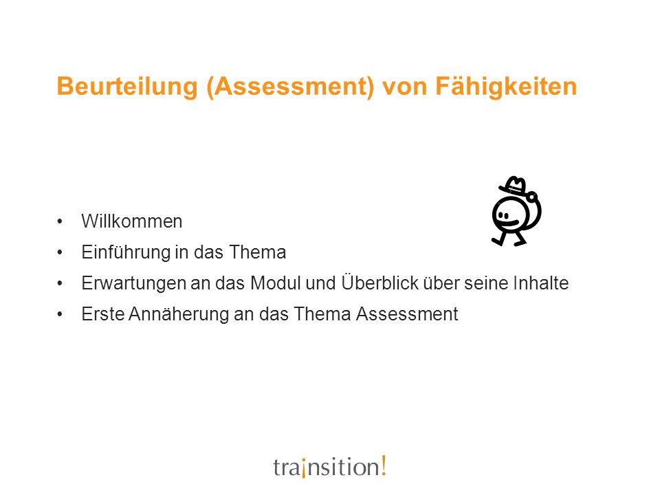 Beurteilung (Assessment) von Fähigkeiten