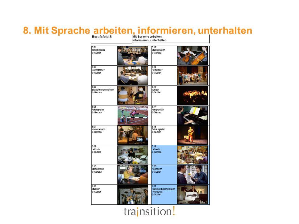 8. Mit Sprache arbeiten, informieren, unterhalten