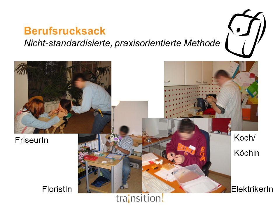 Berufsrucksack Nicht-standardisierte, praxisorientierte Methode