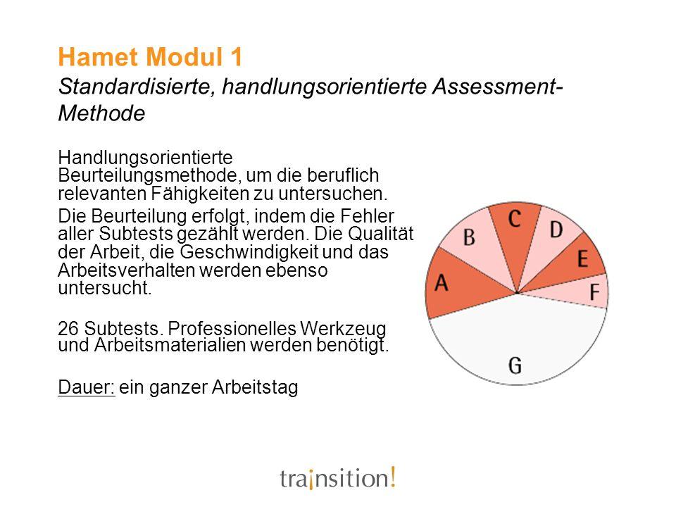 Hamet Modul 1 Standardisierte, handlungsorientierte Assessment- Methode