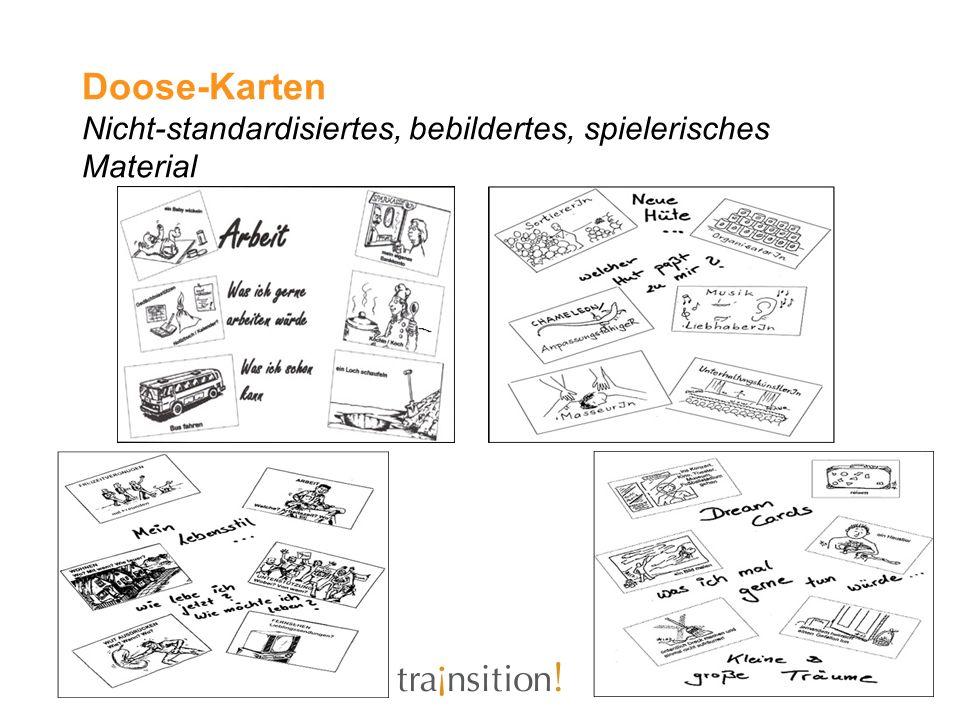 Doose-Karten Nicht-standardisiertes, bebildertes, spielerisches Material