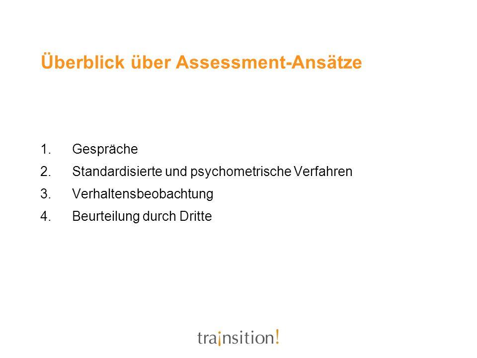 Überblick über Assessment-Ansätze