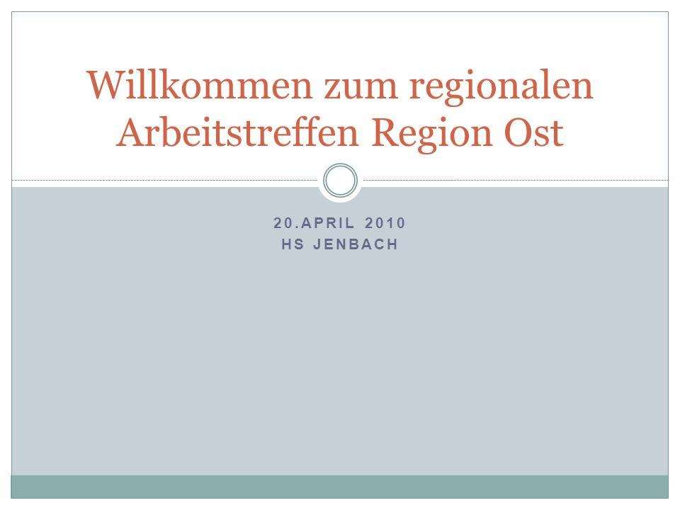 Willkommen zum regionalen Arbeitstreffen Region Ost