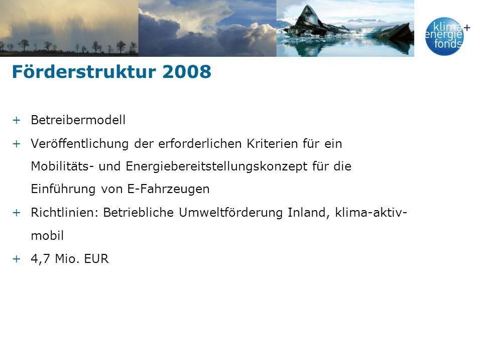 Förderstruktur 2008 Betreibermodell