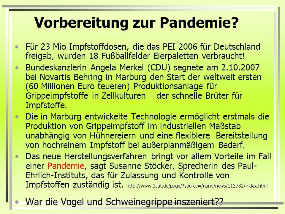 Vorbereitung zur Pandemie