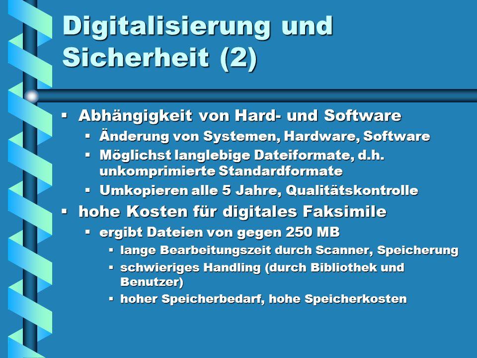 Digitalisierung und Sicherheit (2)