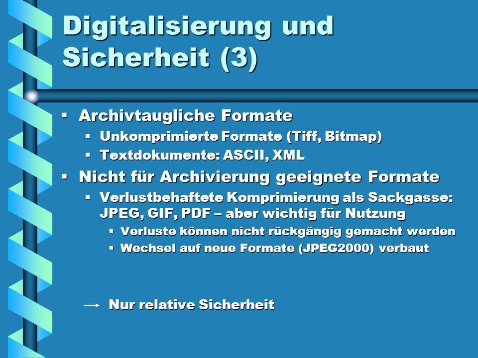 Digitalisierung und Sicherheit (3)