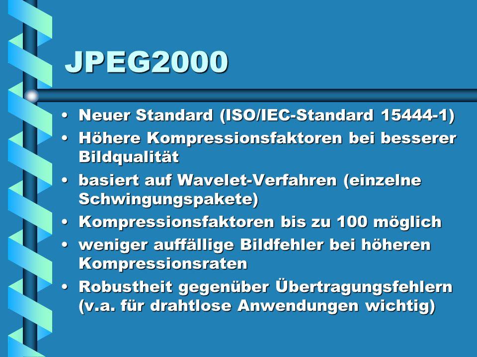 JPEG2000 Neuer Standard (ISO/IEC-Standard 15444-1)