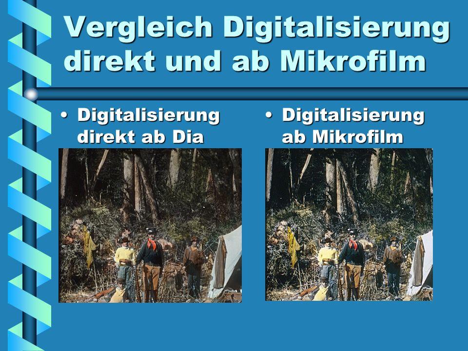 Vergleich Digitalisierung direkt und ab Mikrofilm