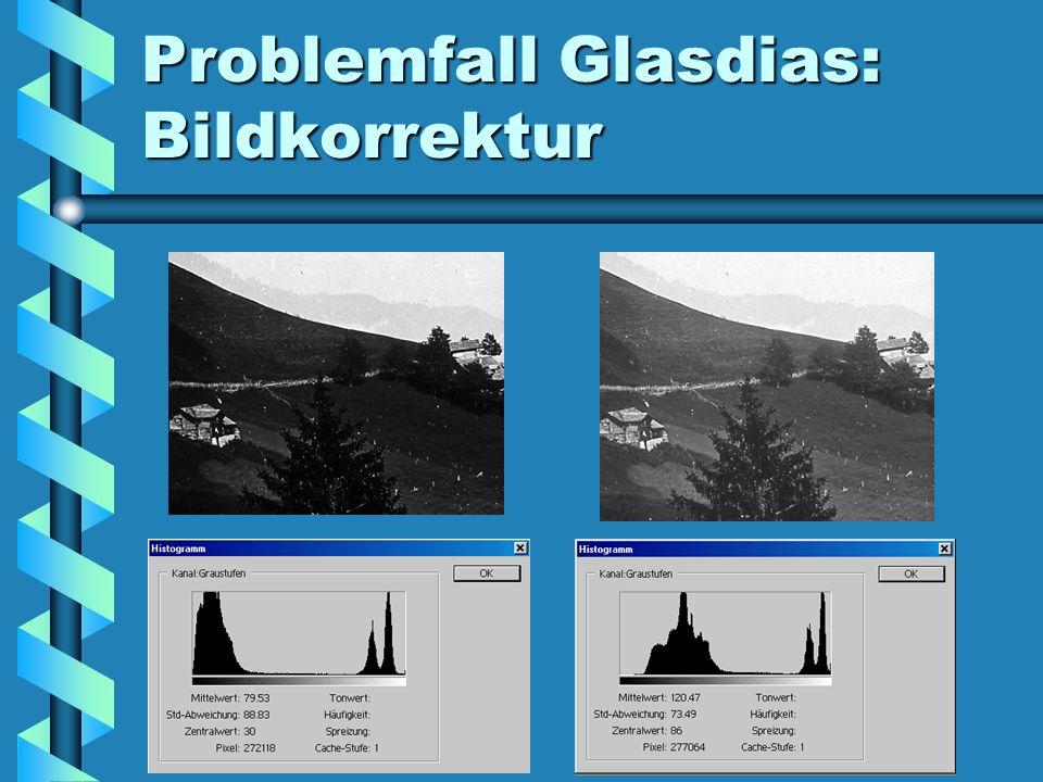 Problemfall Glasdias: Bildkorrektur