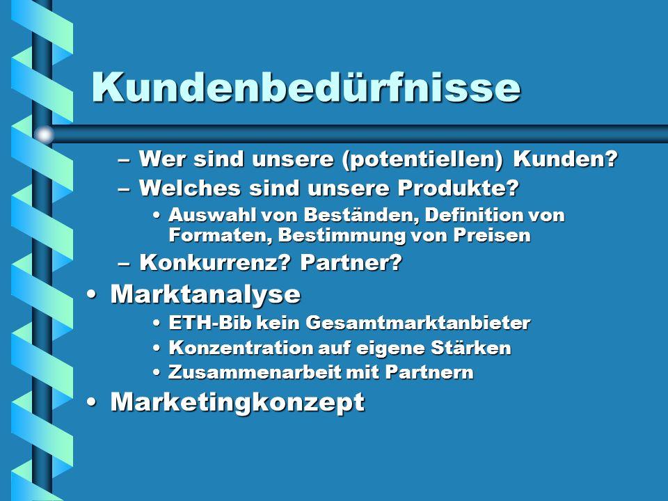 Kundenbedürfnisse Marktanalyse Marketingkonzept