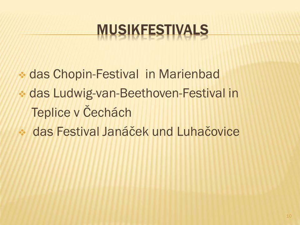 MusikfestivalS das Chopin-Festival in Marienbad