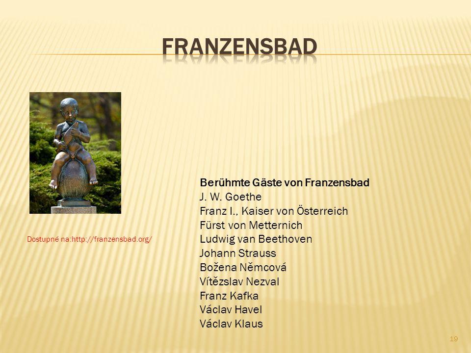 Franzensbad Berühmte Gäste von Franzensbad J. W. Goethe