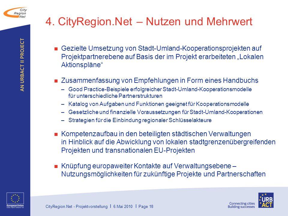 4. CityRegion.Net – Nutzen und Mehrwert