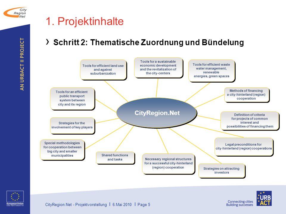 1. Projektinhalte Schritt 2: Thematische Zuordnung und Bündelung