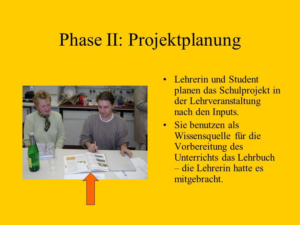 Phase II: Projektplanung