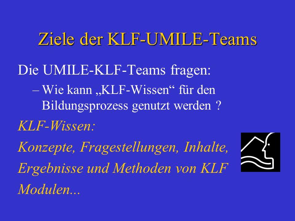 Ziele der KLF-UMILE-Teams