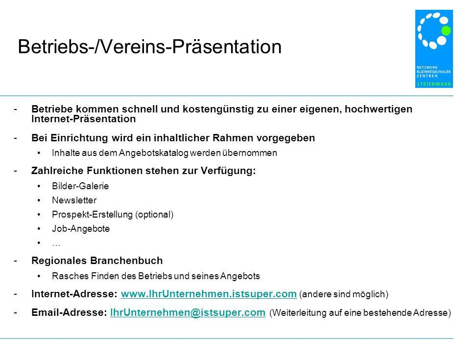 Betriebs-/Vereins-Präsentation