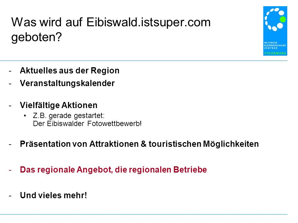 Was wird auf Eibiswald.istsuper.com geboten