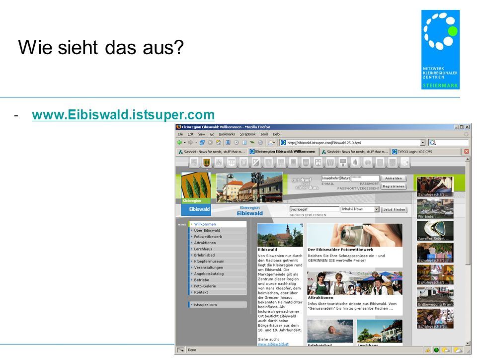 Wie sieht das aus www.Eibiswald.istsuper.com