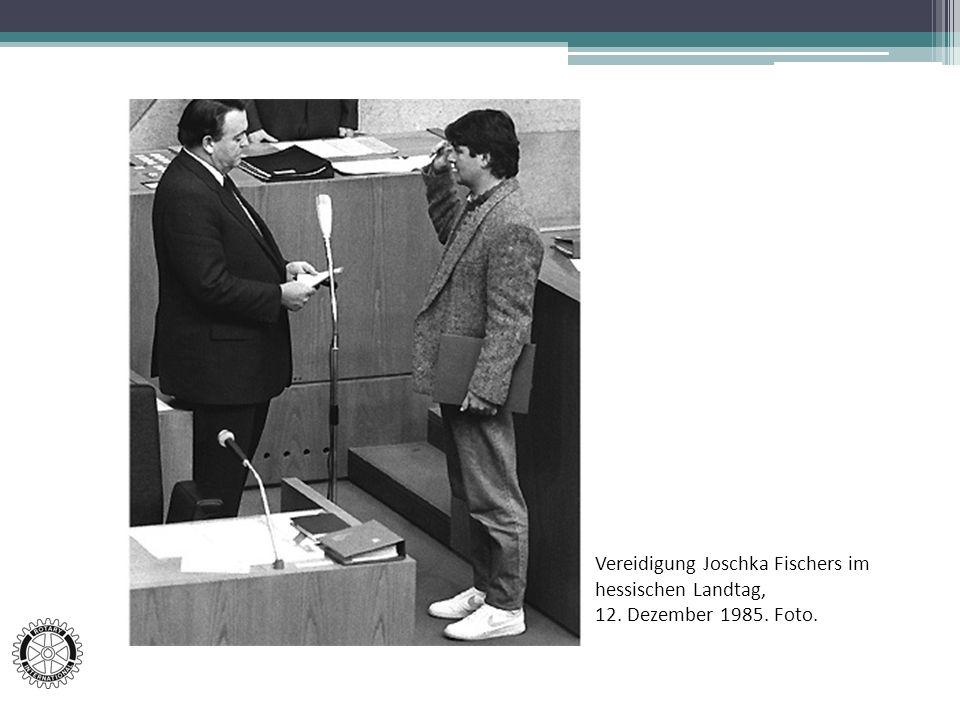 Vereidigung Joschka Fischers im hessischen Landtag,