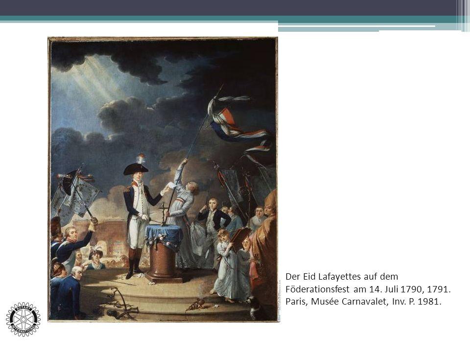 Der Eid Lafayettes auf dem Föderationsfest am 14. Juli 1790, 1791