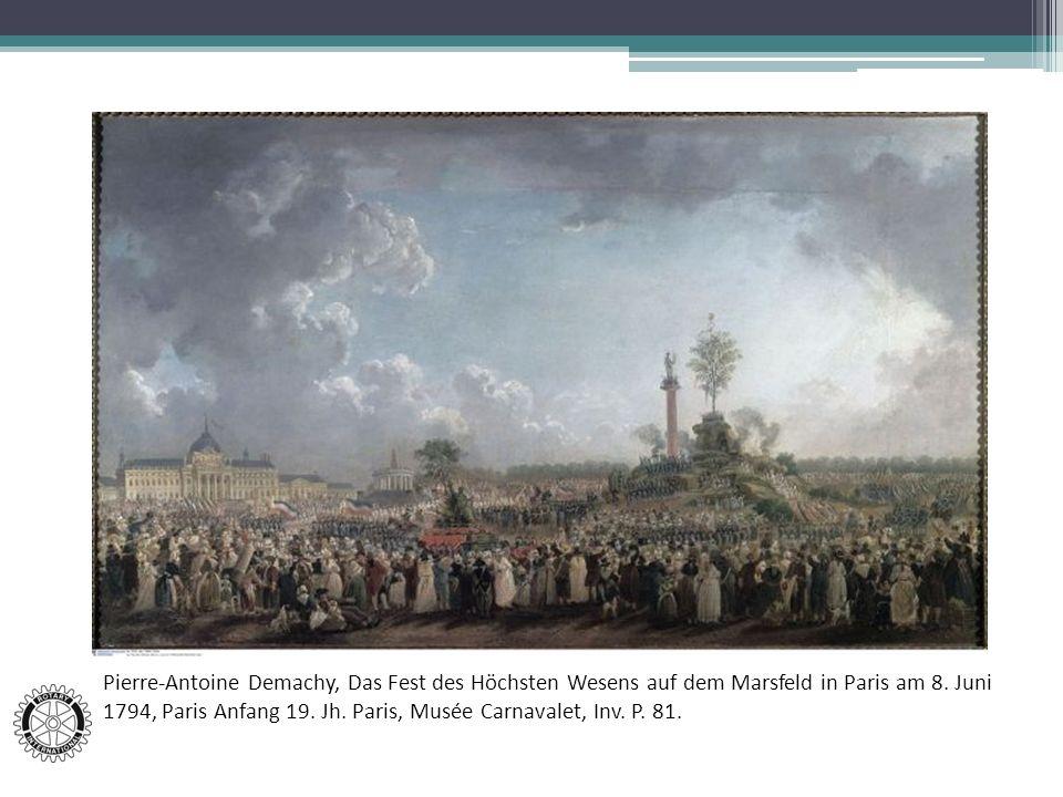 Pierre-Antoine Demachy, Das Fest des Höchsten Wesens auf dem Marsfeld in Paris am 8.
