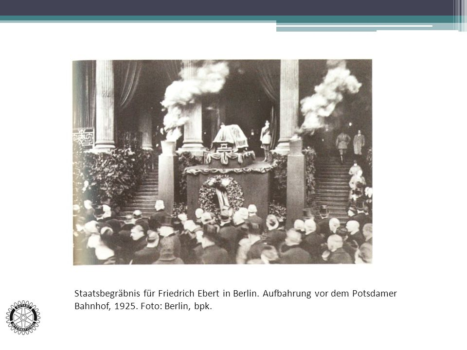 Staatsbegräbnis für Friedrich Ebert in Berlin