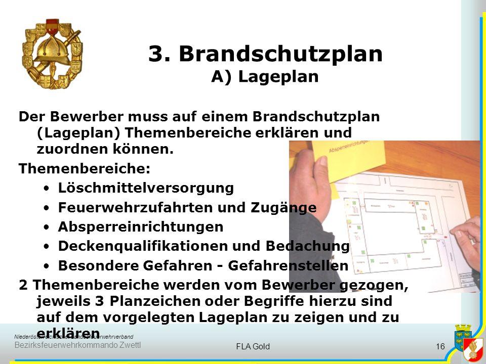 3. Brandschutzplan A) Lageplan