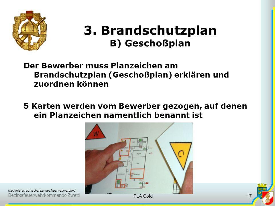 3. Brandschutzplan B) Geschoßplan