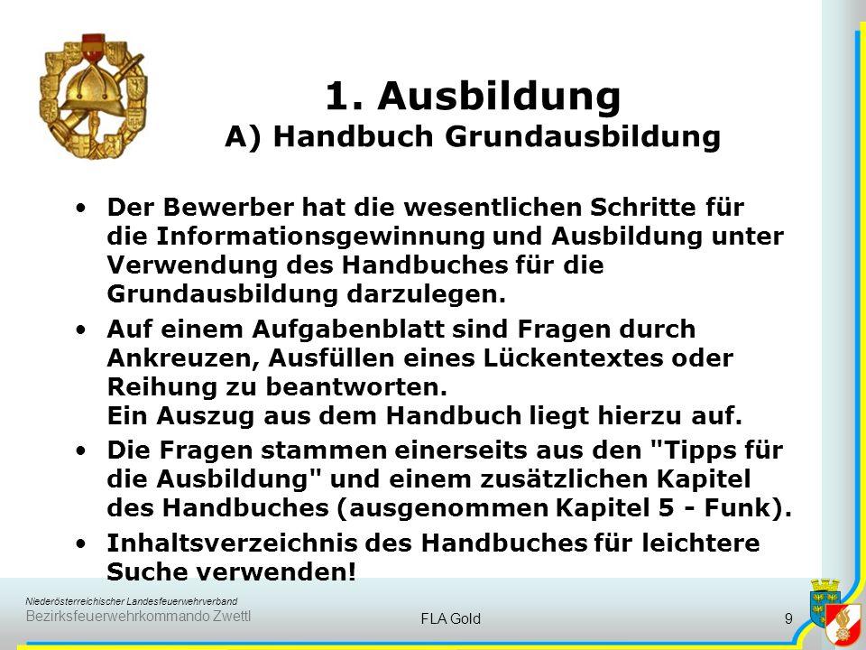 1. Ausbildung A) Handbuch Grundausbildung