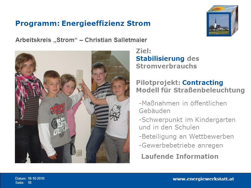 Programm: Energieeffizienz Strom
