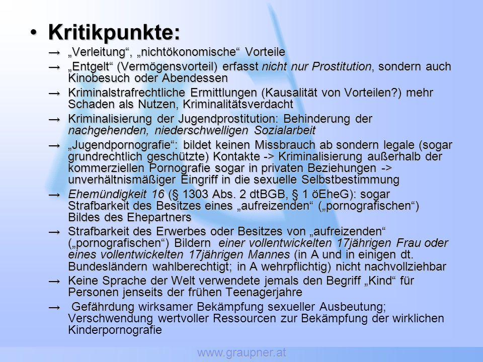 """Kritikpunkte: """"Verleitung , """"nichtökonomische Vorteile"""