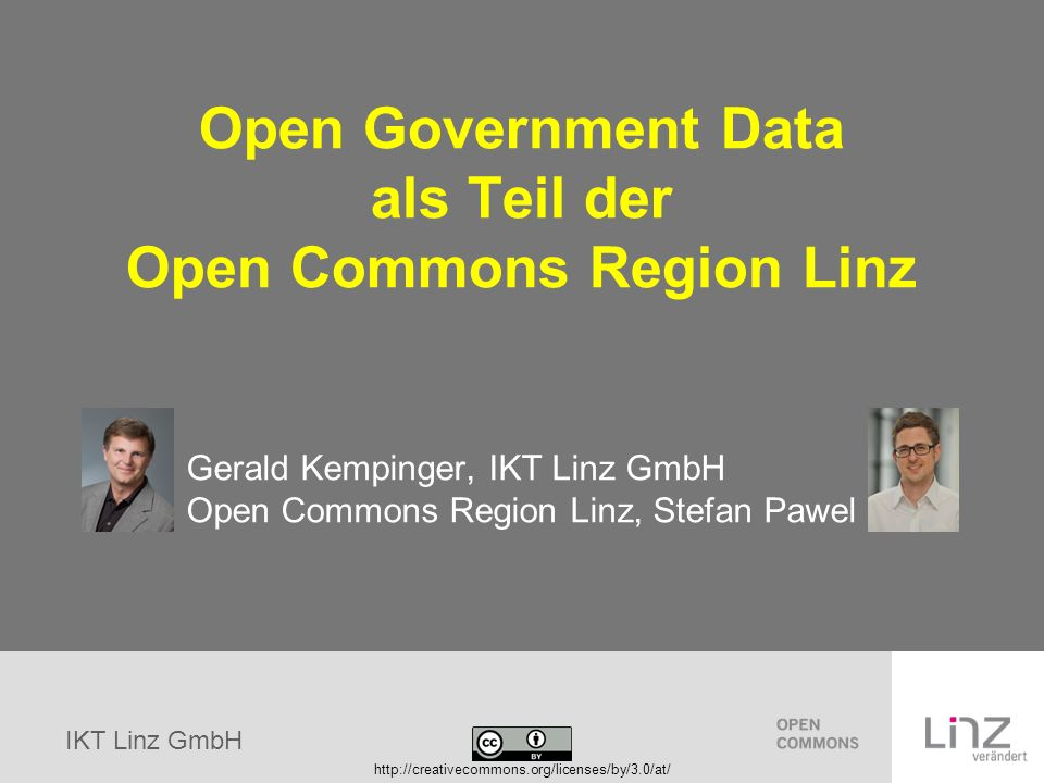 Open Government Data als Teil der Open Commons Region Linz