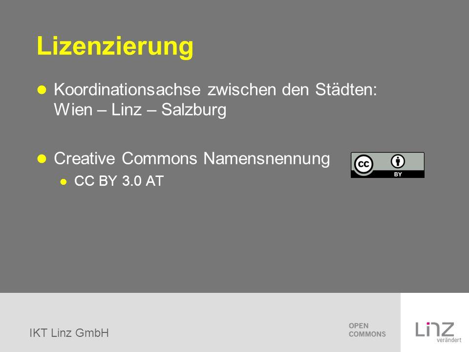 Lizenzierung Koordinationsachse zwischen den Städten: Wien – Linz – Salzburg. Creative Commons Namensnennung.