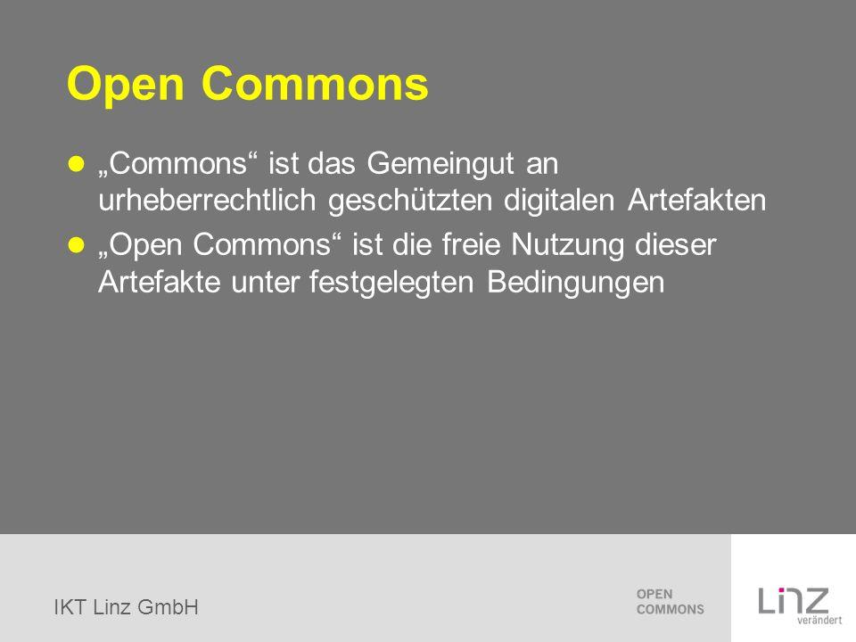 "Open Commons ""Commons ist das Gemeingut an urheberrechtlich geschützten digitalen Artefakten."