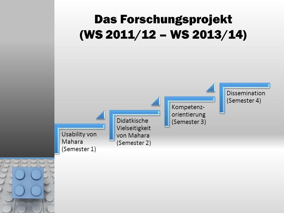 Das Forschungsprojekt (WS 2011/12 – WS 2013/14)