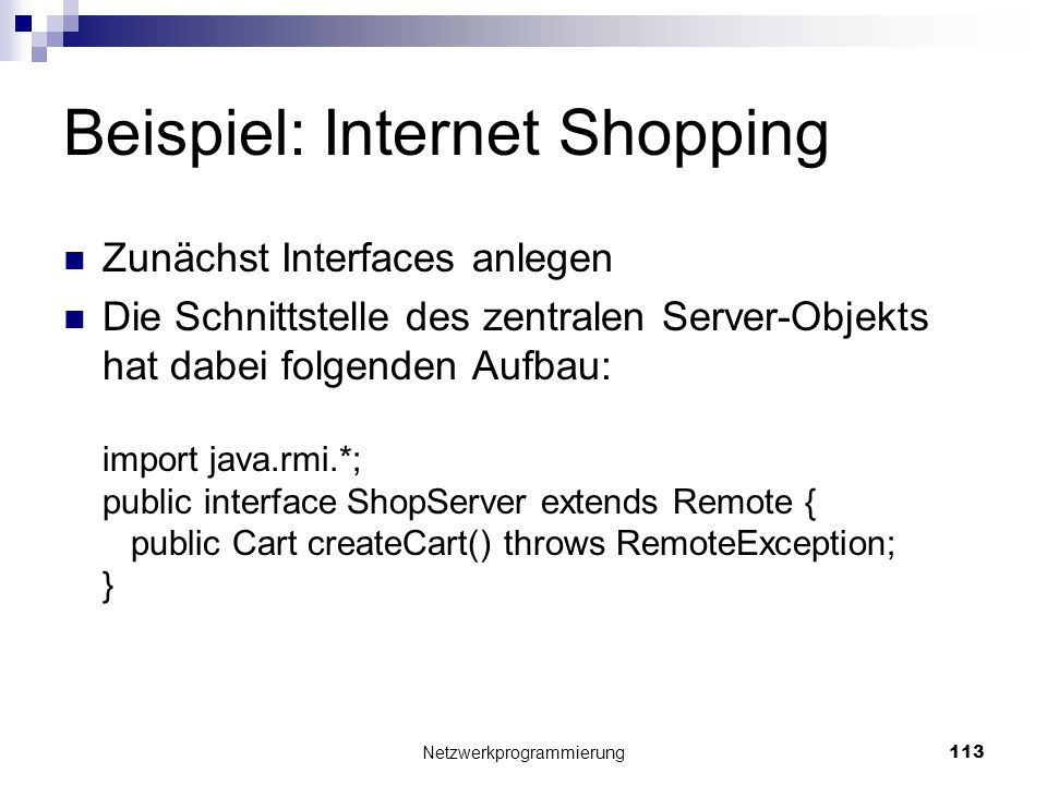 Beispiel: Internet Shopping