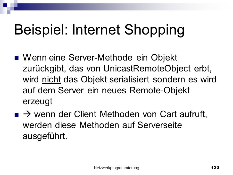 Beispiel: Internet Shopping