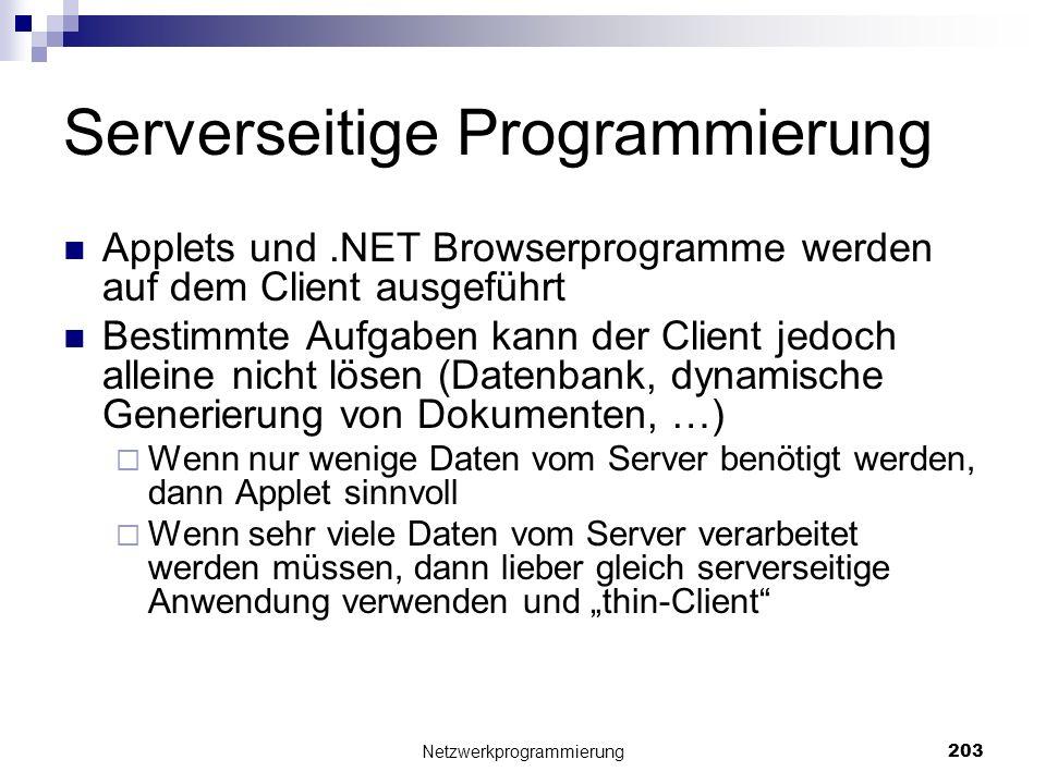 Serverseitige Programmierung