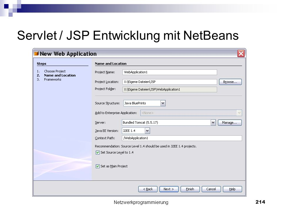 Servlet / JSP Entwicklung mit NetBeans