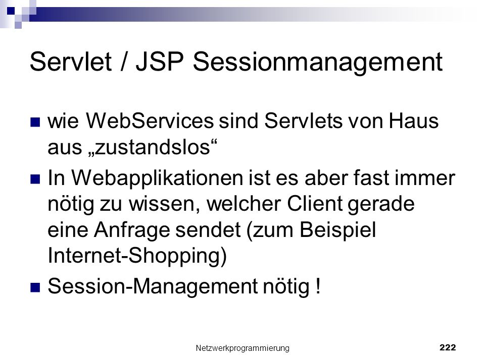 Servlet / JSP Sessionmanagement
