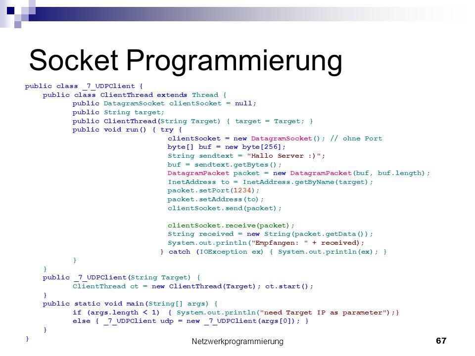 Socket Programmierung