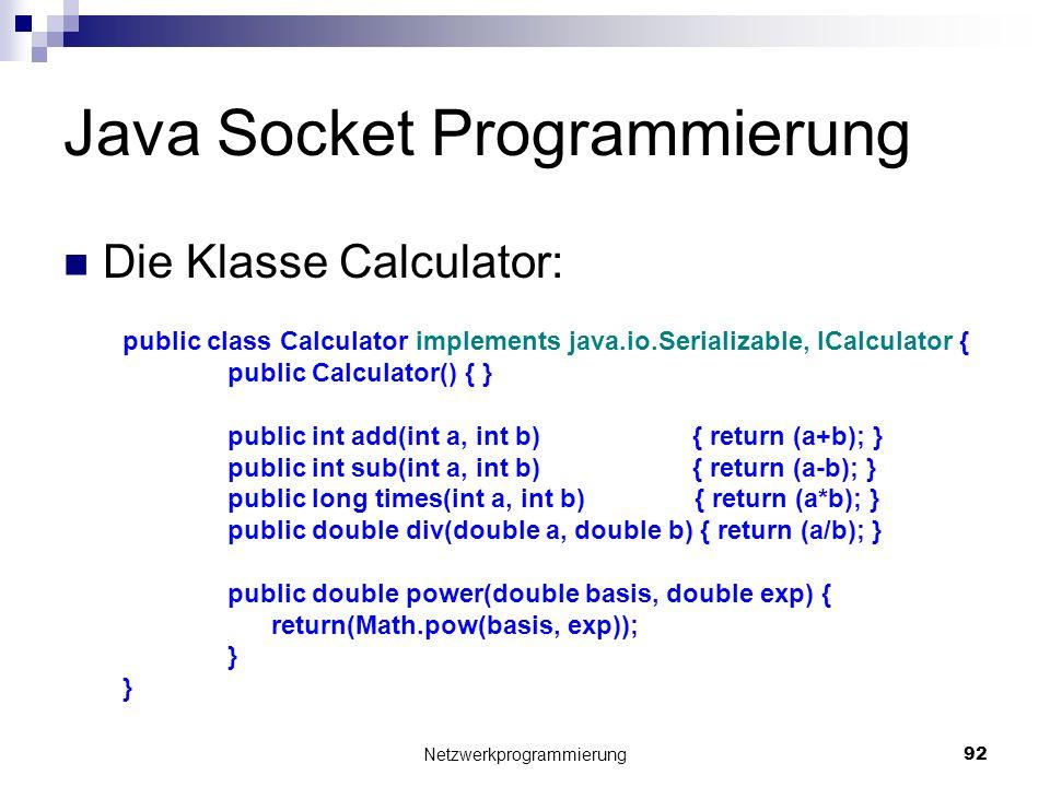 Java Socket Programmierung