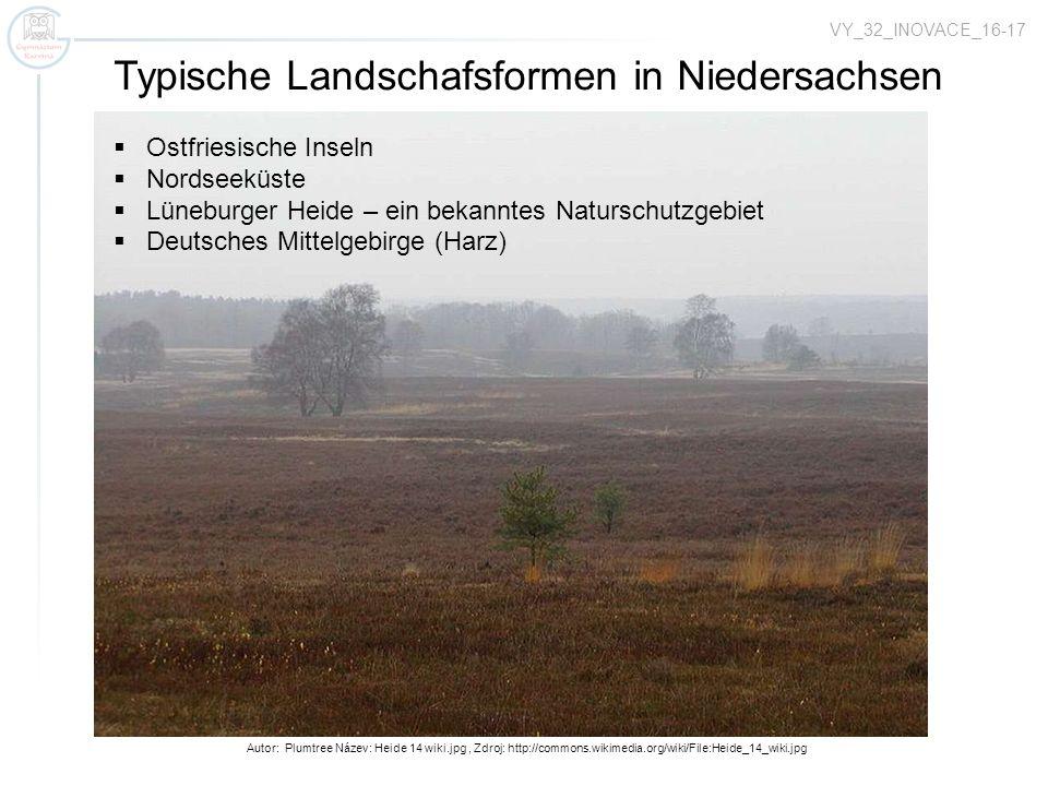 Typische Landschafsformen in Niedersachsen