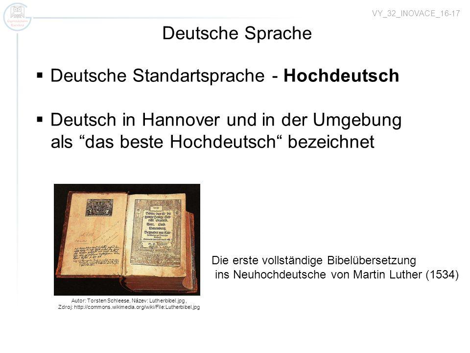 Deutsche Standartsprache - Hochdeutsch