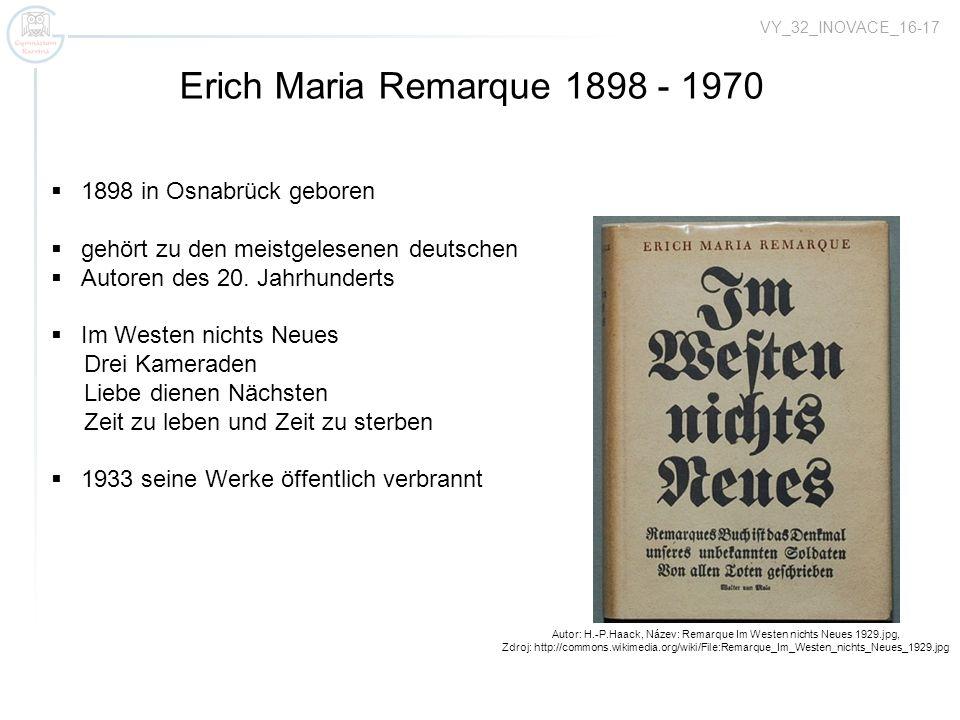 Autor: H.-P.Haack, Název: Remarque Im Westen nichts Neues 1929.jpg,