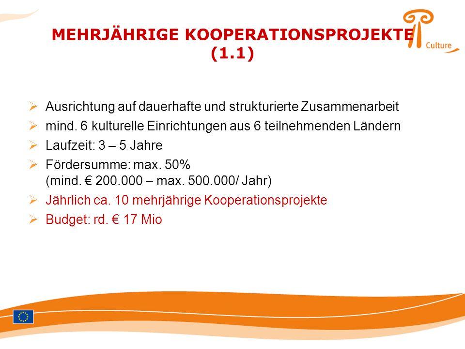 MEHRJÄHRIGE KOOPERATIONSPROJEKTE (1.1)