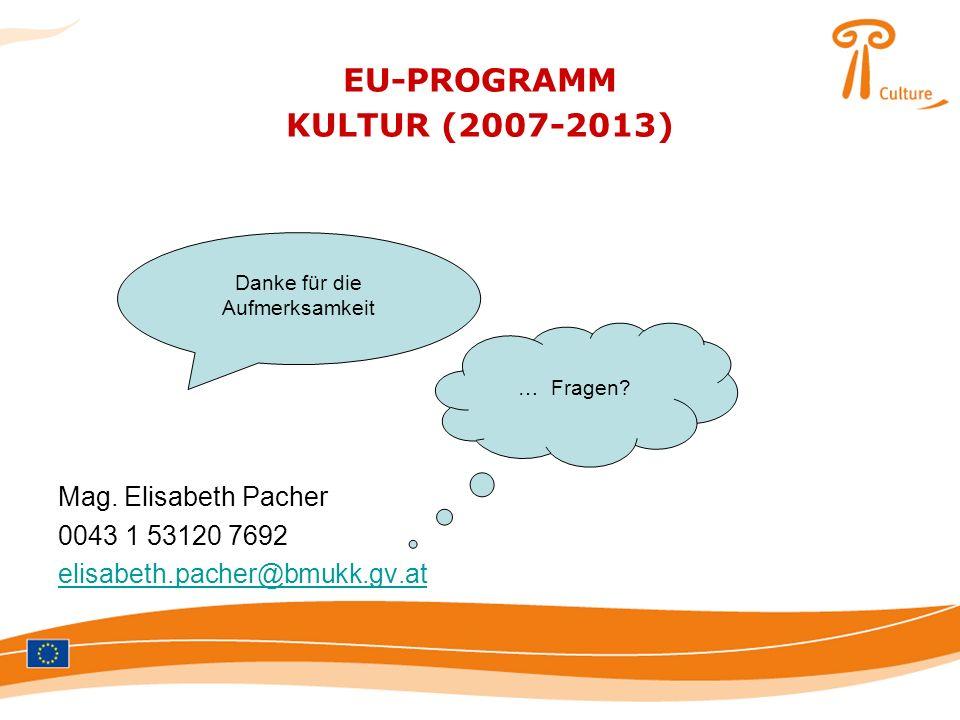 EU-PROGRAMM KULTUR (2007-2013)